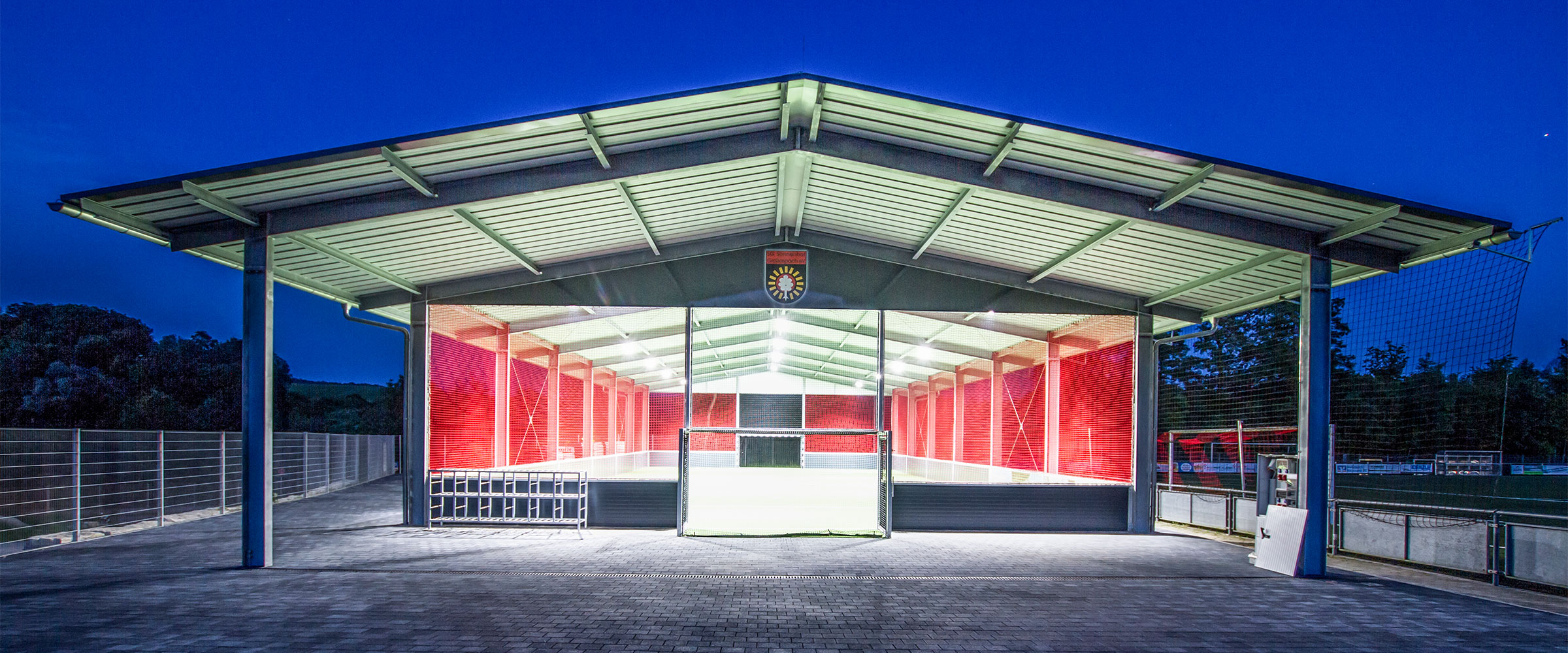 Die McArena Freilufthalle der SG Sonnenhof Großaspach